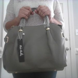 Pink Haley Beatrice Tote in Gray